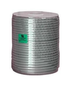 1000ft 28 AWG 6-Conductor Silver Satin Modular Cable Reel