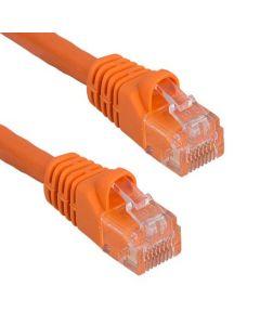 Cat5e 350 MHz UTP Orange Snagless Crossover Ethernet Cable